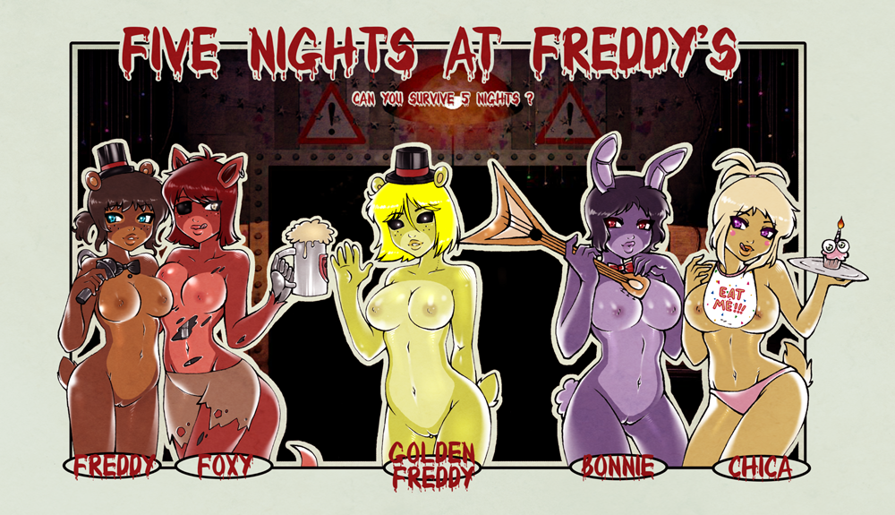 freddys at nights foxy five Mega lopunny time to le