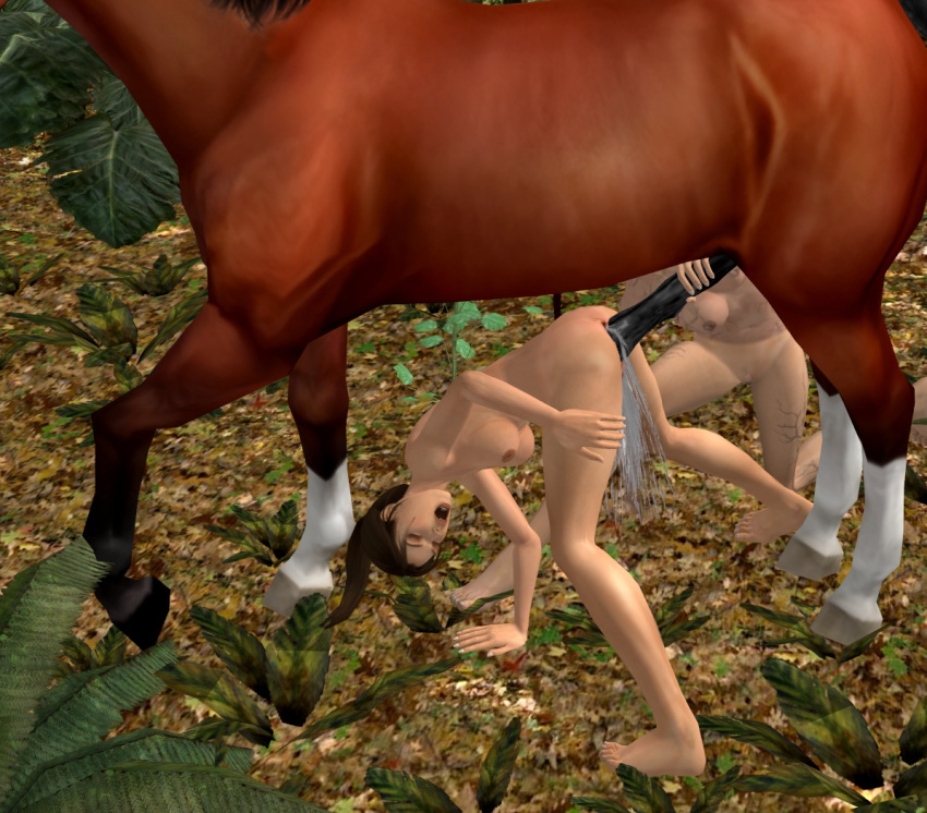 horse raider tomb lara with Nausicaa of the valley of the wind asbel