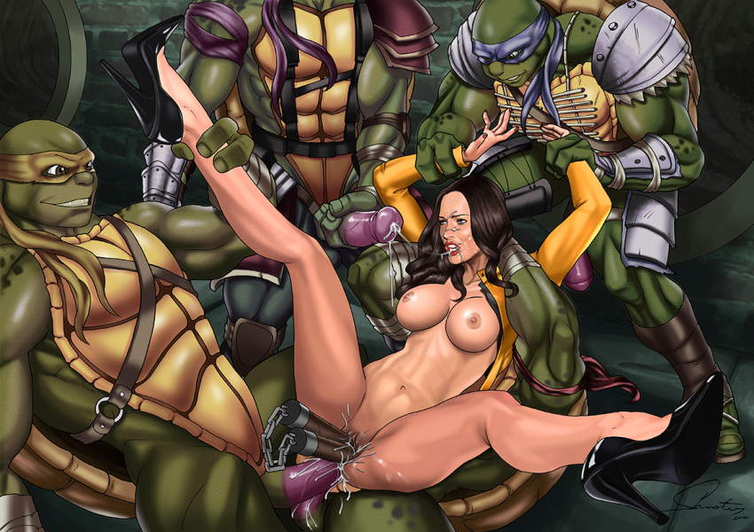 pictures from of ninja turtles april Highschool of the dead bath scene uncut